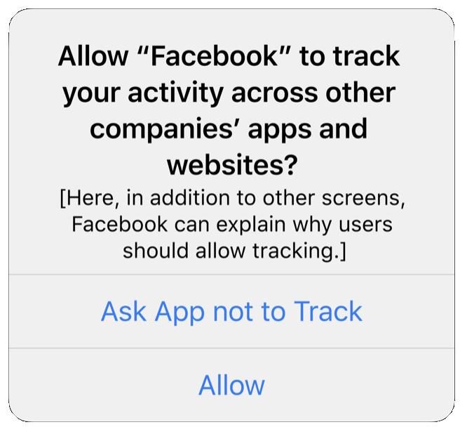 facebook apple ios14 tracking authorization